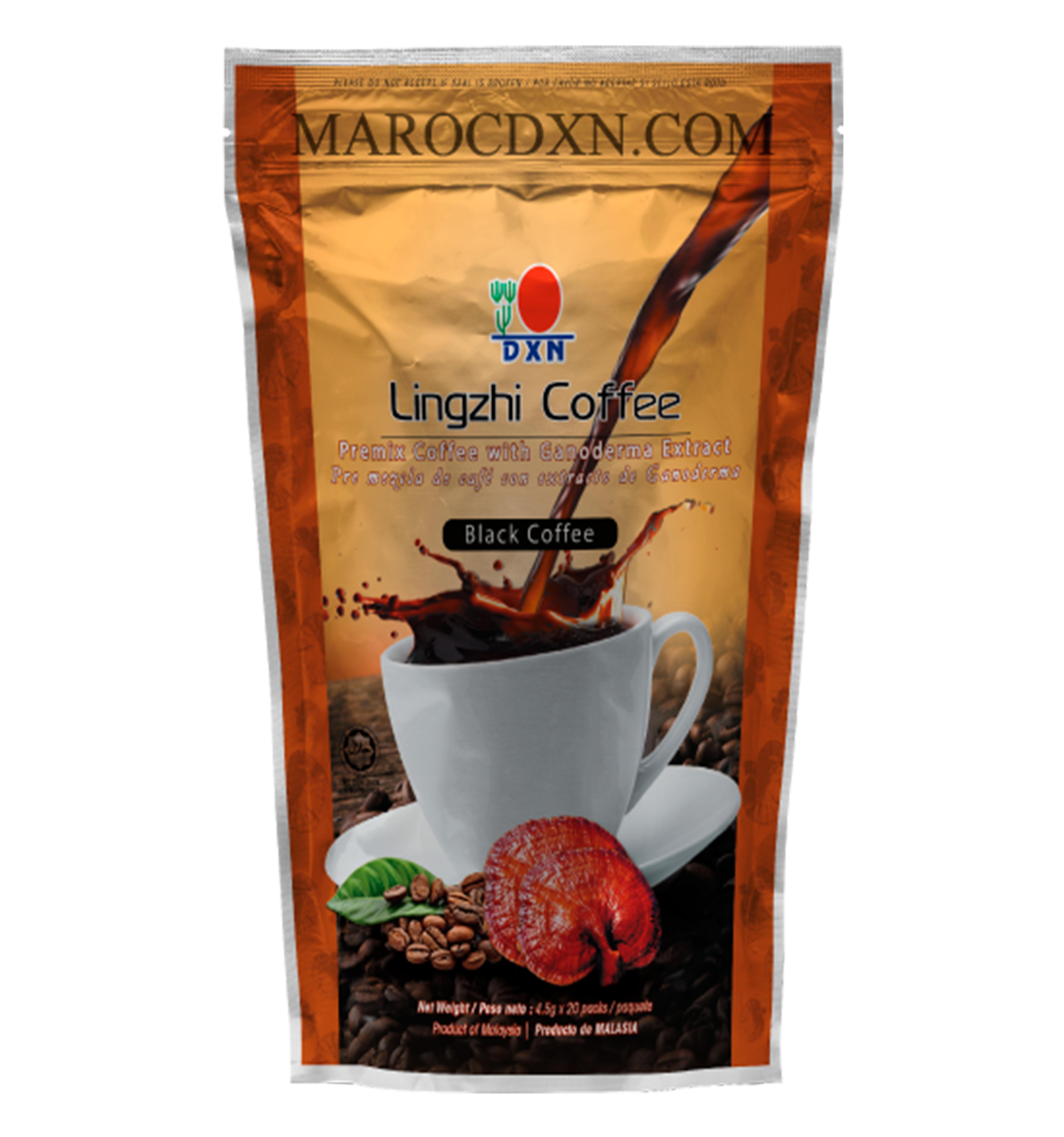 قهوة لينجزي السوداء Marocdxn Maroc Dxn